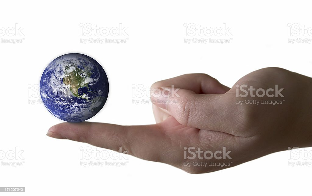 It's a small world - isolated and soft focus royalty-free stock photo