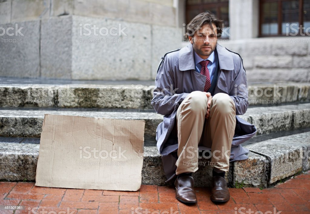 It's a tough life when you're jobless! stock photo