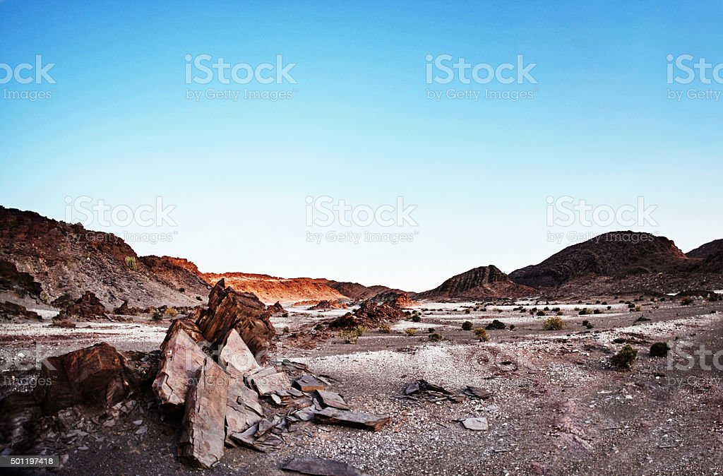 It's a vast and barren landscape stock photo