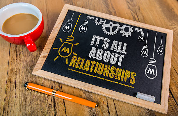 It's All About Relationships stock photo