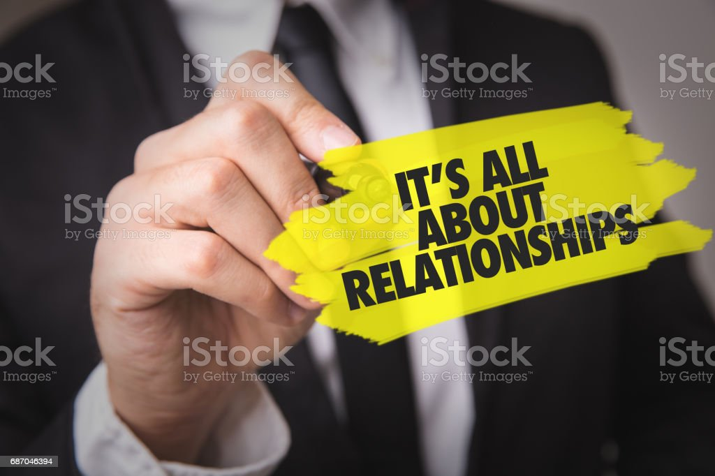 Its All About Relationships stock photo