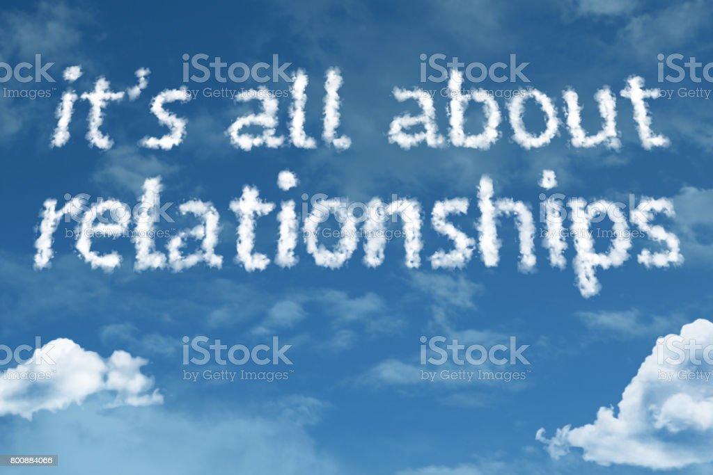 Todo acerca de las relaciones - foto de stock