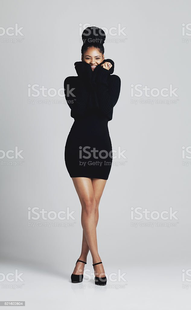 It's all about that little black dress stock photo