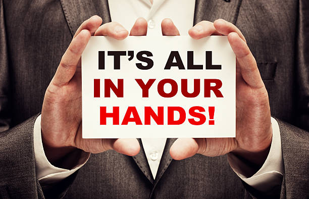 It's All In Your Hands! stock photo