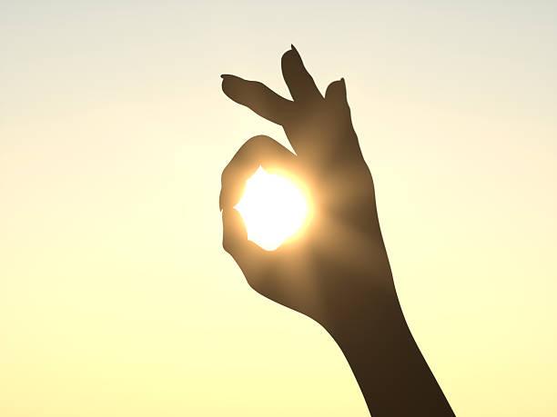 Es ist alles rechten Seite vor der Sonne – Foto
