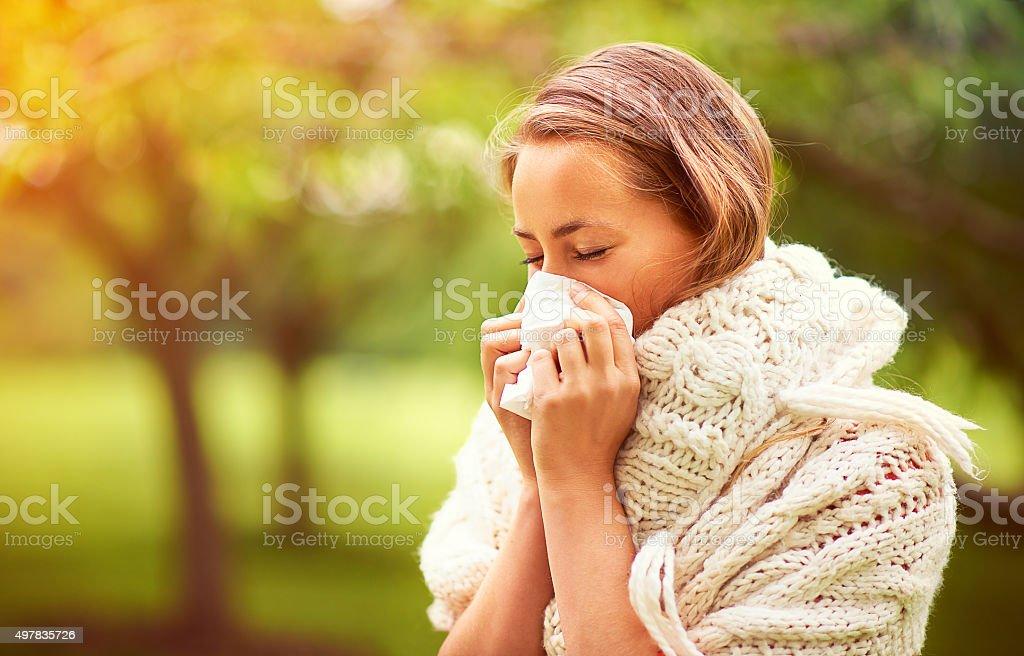 Die Allergie Saison. - Lizenzfrei 2015 Stock-Foto