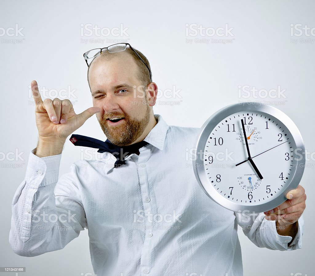 It's almost five o'clock. royalty-free stock photo