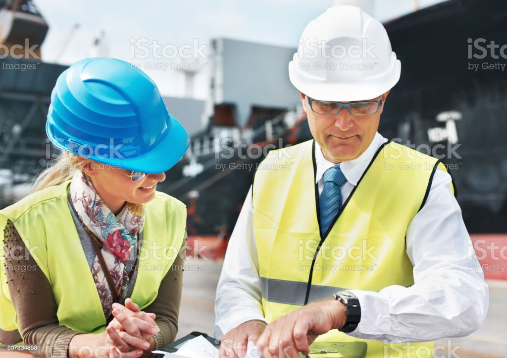 It's almost time for the lastest shipment's arrival... stock photo