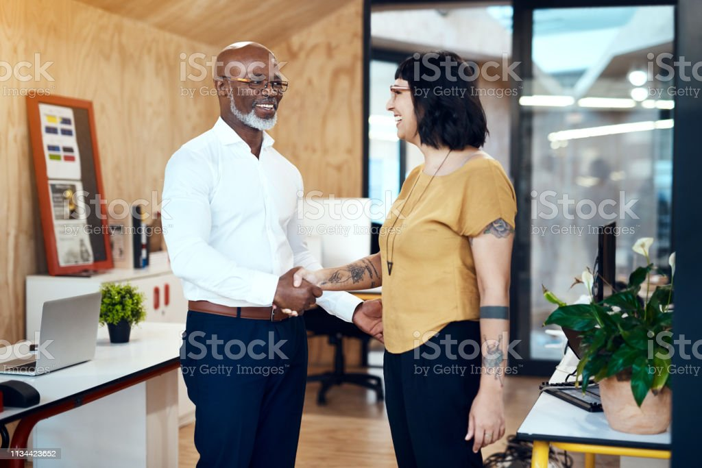 It's always a pleasure working with you stock photo