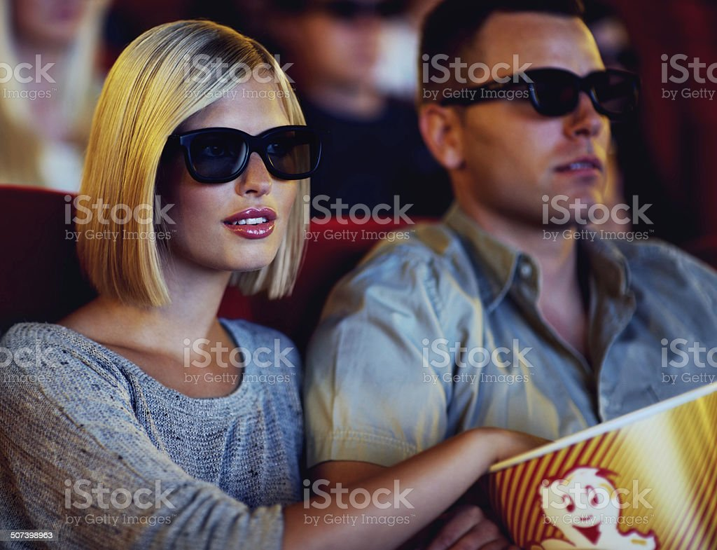 It's always better on the big screen! stock photo