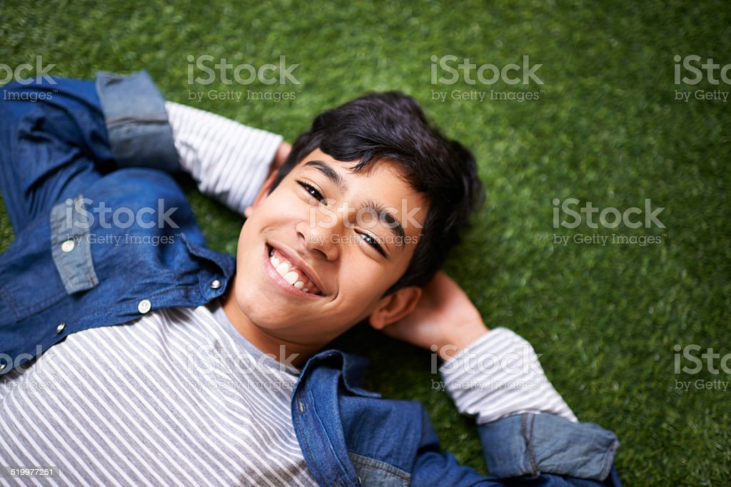 It's awesome being a kid! stock photo