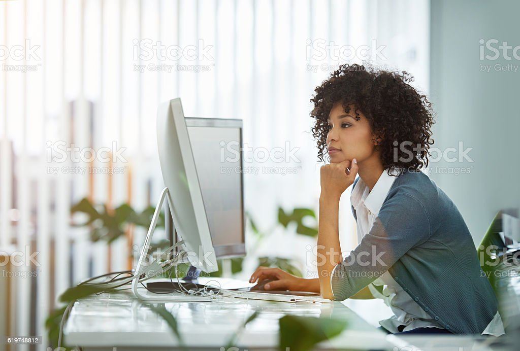 It's been a long day in the office stock photo