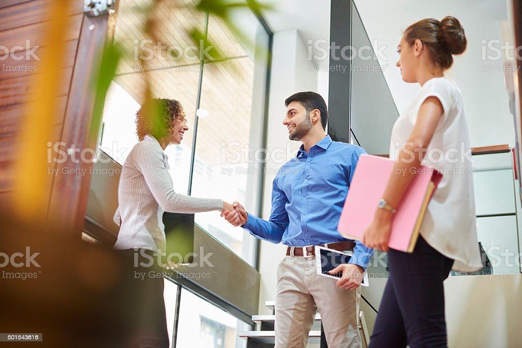 Fue una reunión muy fructífera - foto de stock