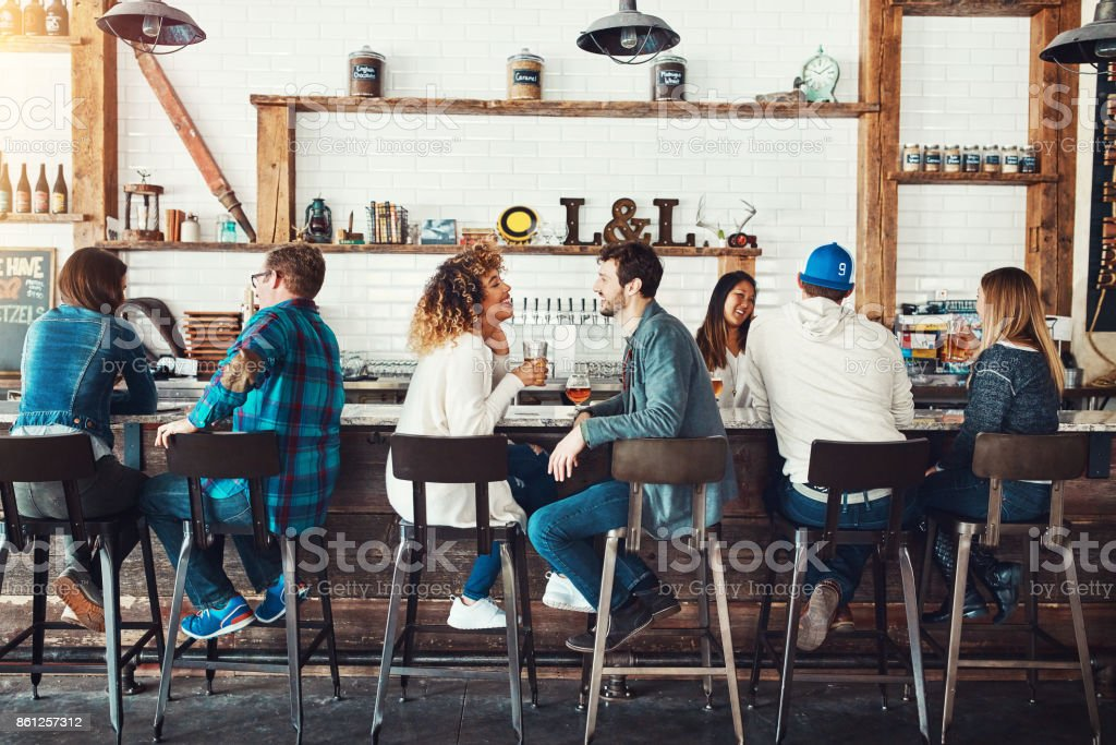 It's beginning to look a lot like happy hour stock photo