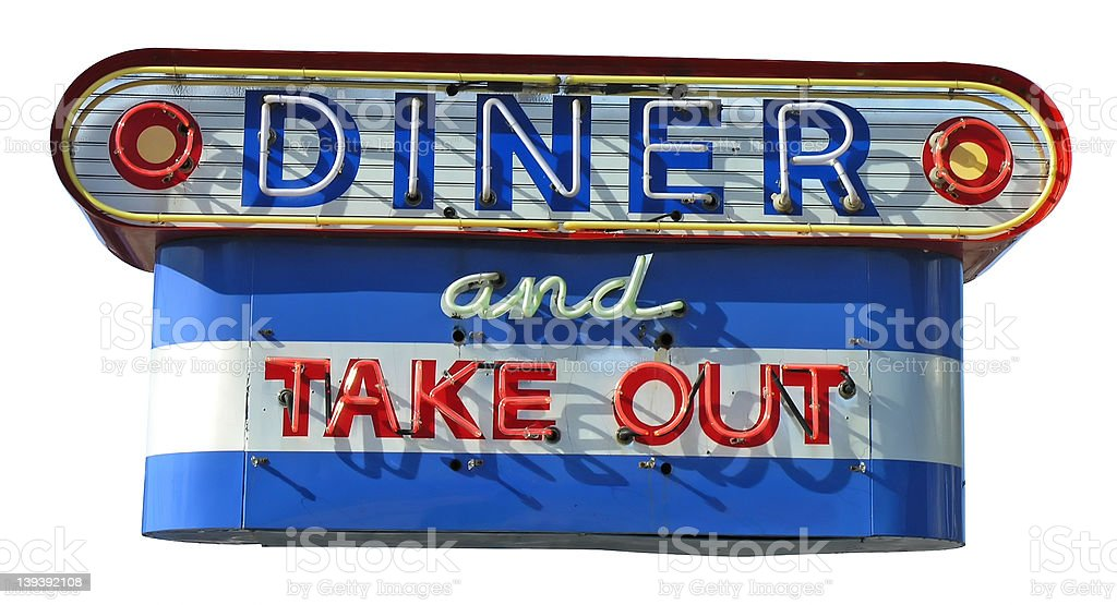 It's Diner Time stock photo
