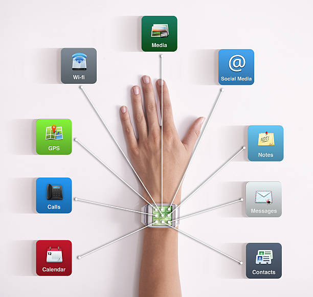 It's everything you need to stay connected stock photo