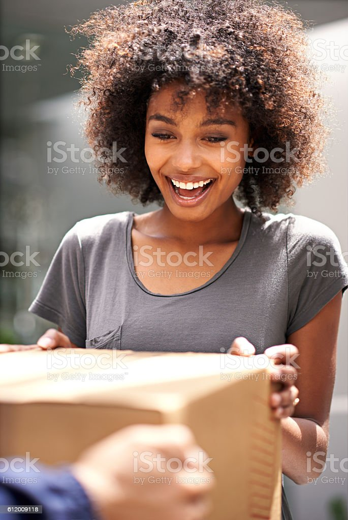 It's finally here! stock photo