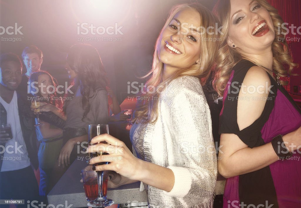 It's girls' night out! royalty-free stock photo