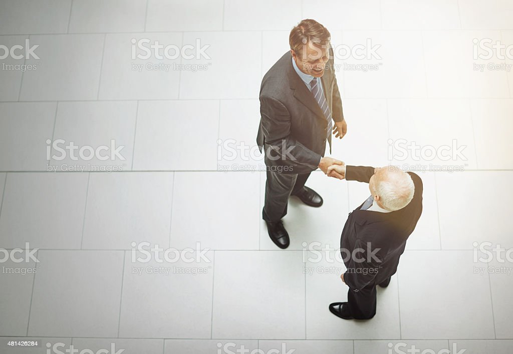 It's great to finally meet you stock photo