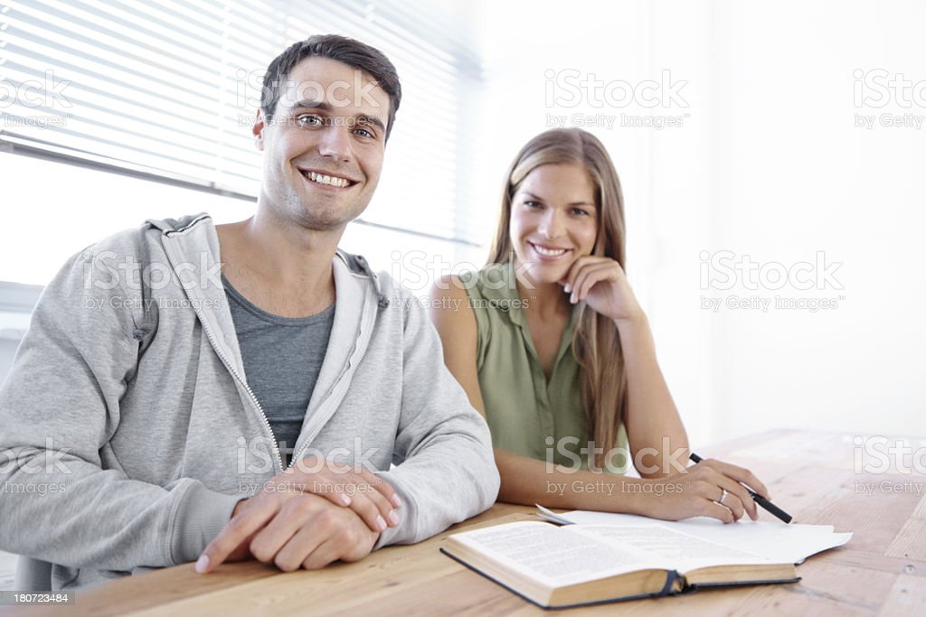 It's great to have a study buddy! royalty-free stock photo