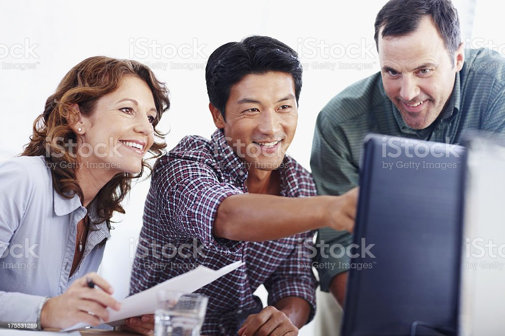 It's great to see our creation coming together stock photo