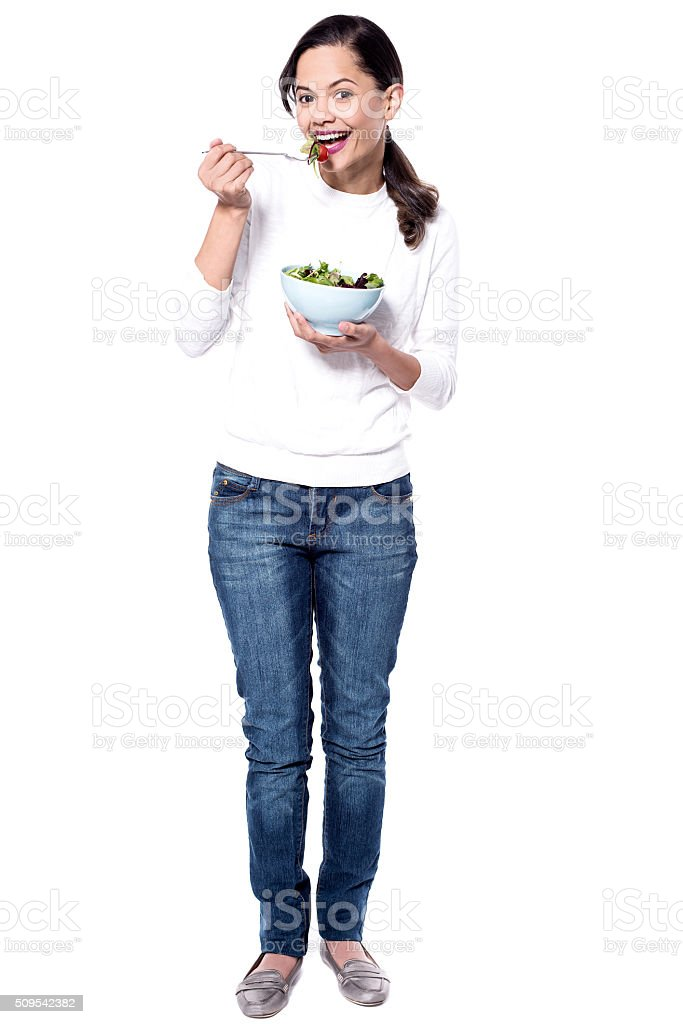 It's helps to maintain my diet! stock photo
