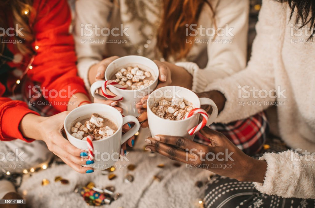 It's hot chocolate o'clock stock photo