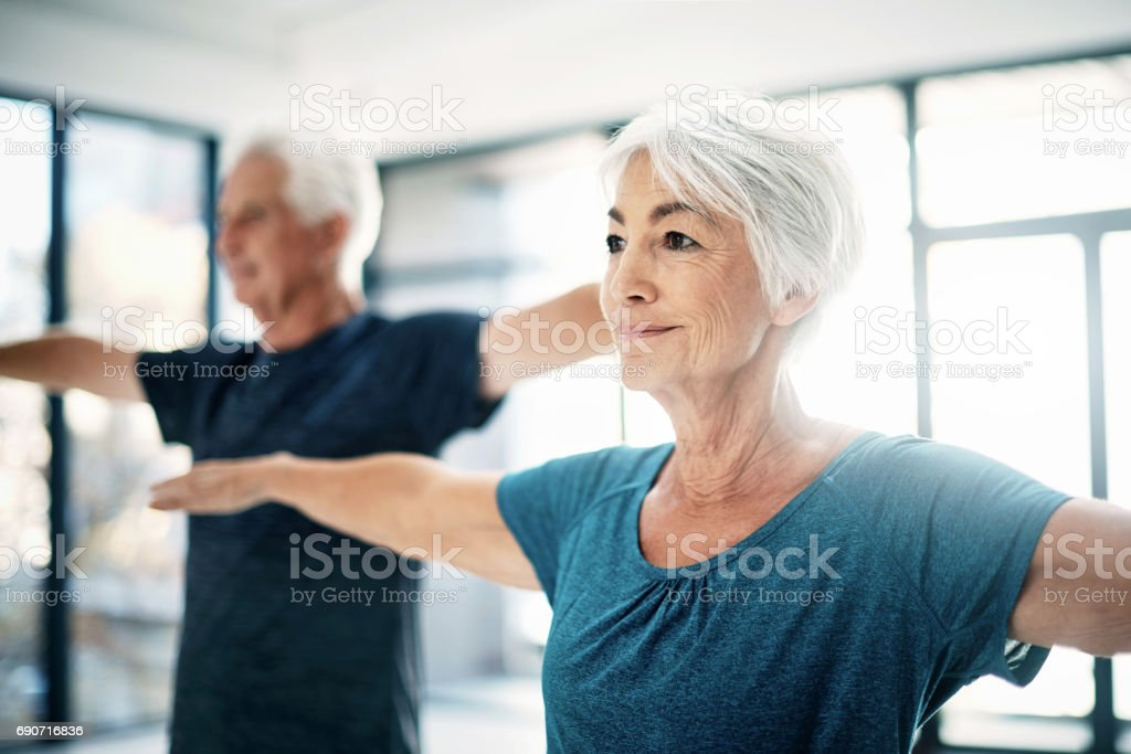 It's important to stay active as you age stock photo