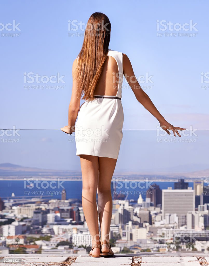 It's just me against the world! stock photo