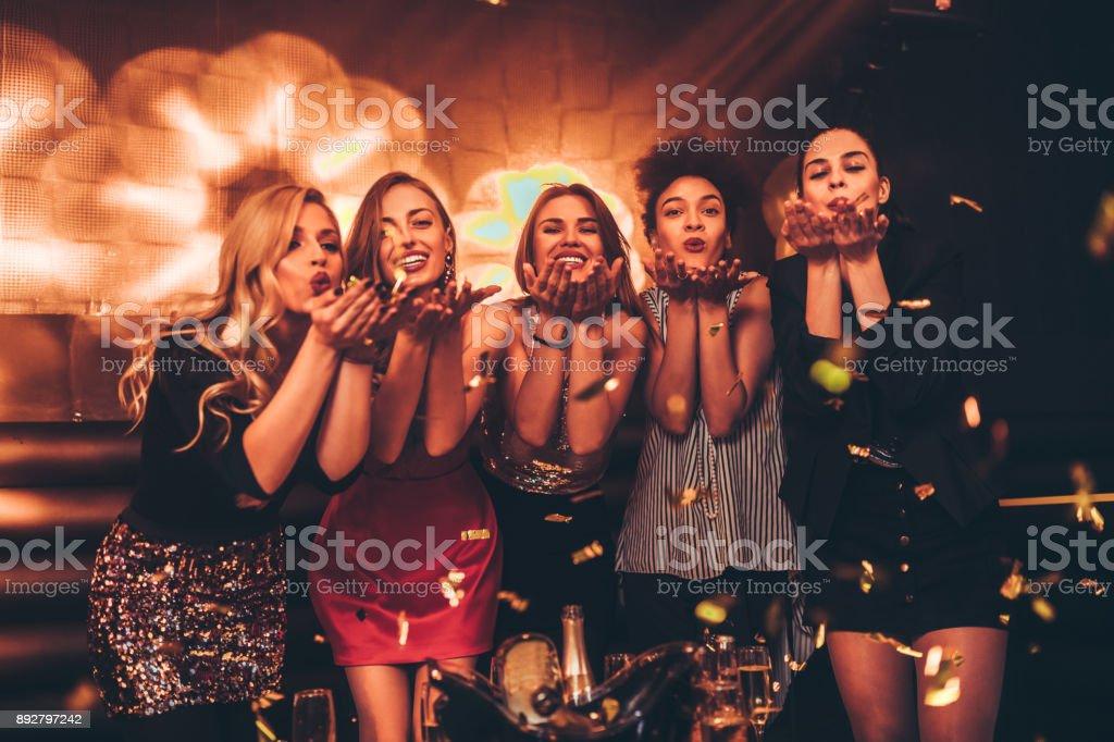 It's ladies night ! stock photo
