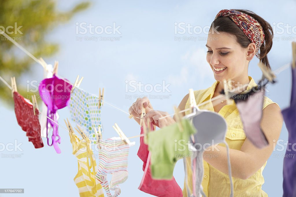 It's laundry day! stock photo