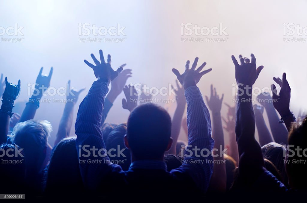 It's live music or nothing for true fans stock photo