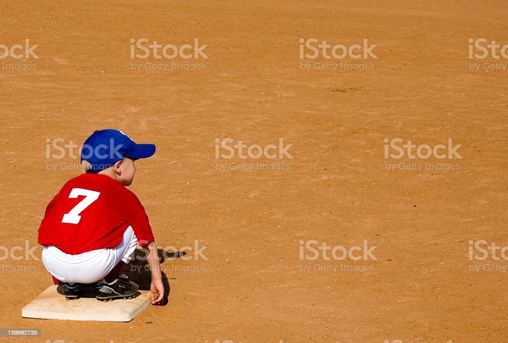 It's Lonely on Second Base stock photo