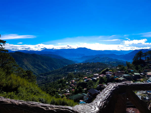 its more fun in the philippines - baguio city stock photos and pictures