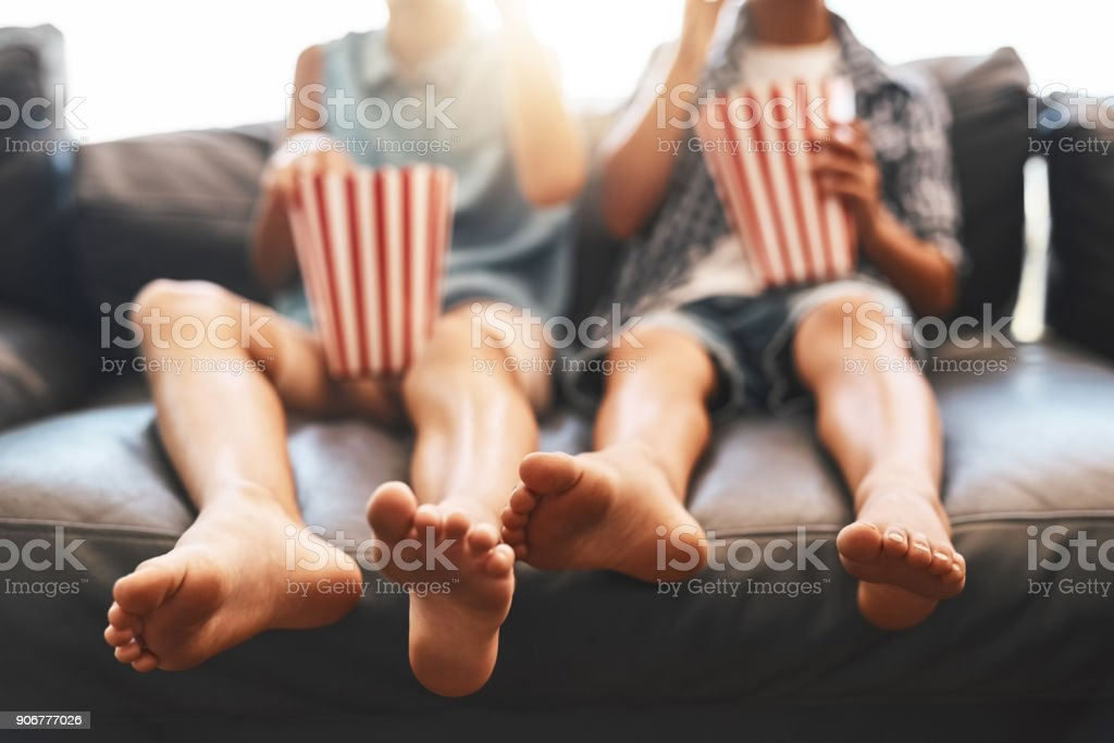 It's movie time! stock photo