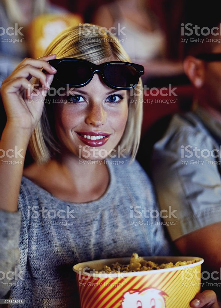 It's movies on a whole new level of awesome! stock photo