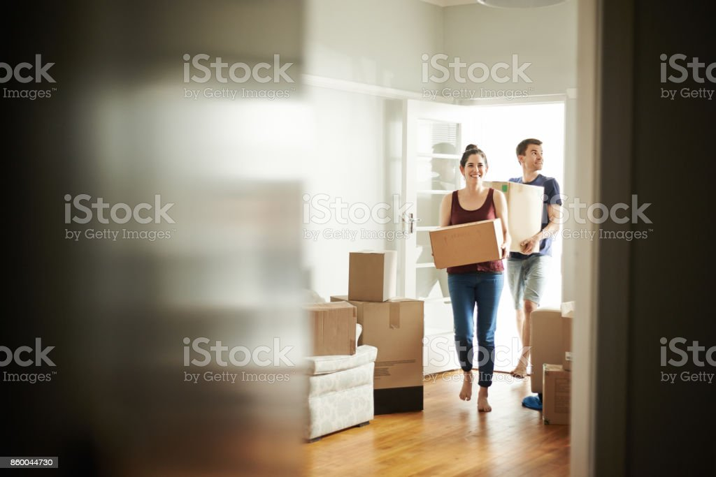 It's moving day stock photo
