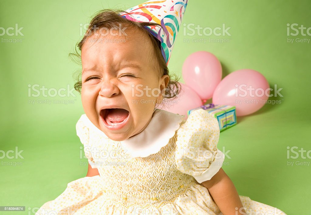 It's my party and I'll cry if I want to stock photo