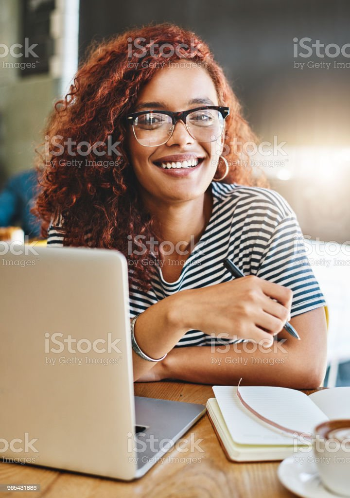 It's my preferred cafe to get work done royalty-free stock photo
