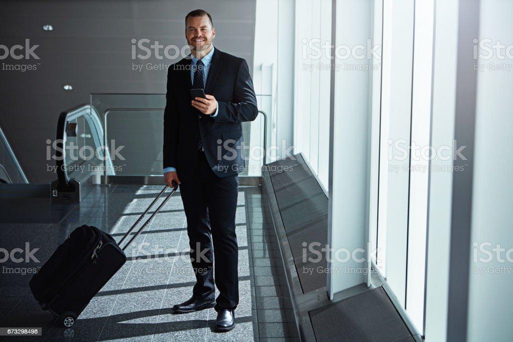 It's my wireless travel companion royalty-free stock photo