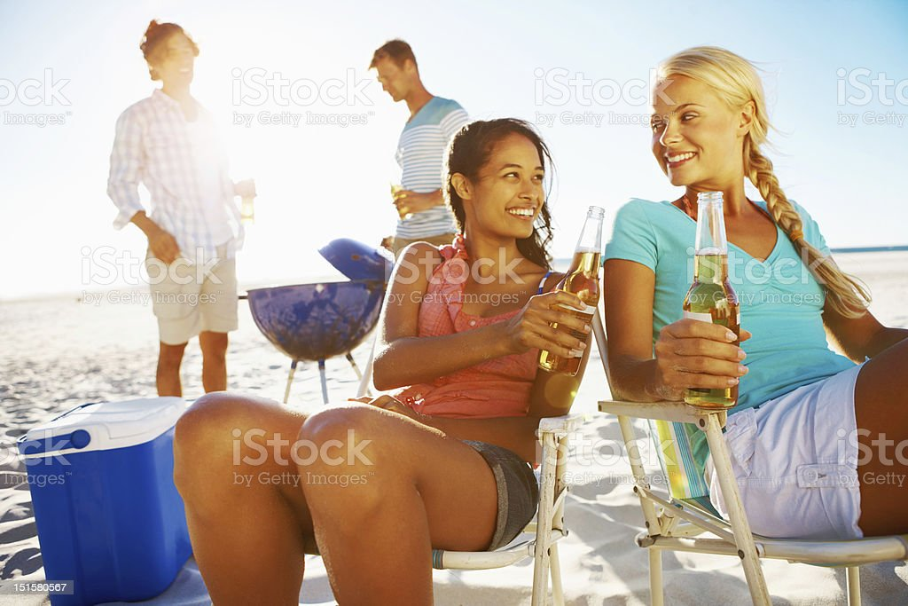 It's never too early for a sundowner! stock photo