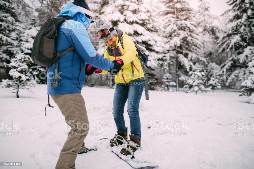 Es ist nie zu spät für Snowboardkurse – Foto