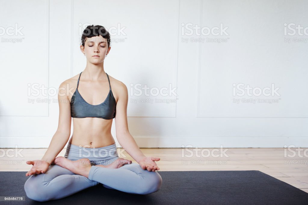 It's never too late to meditate stock photo