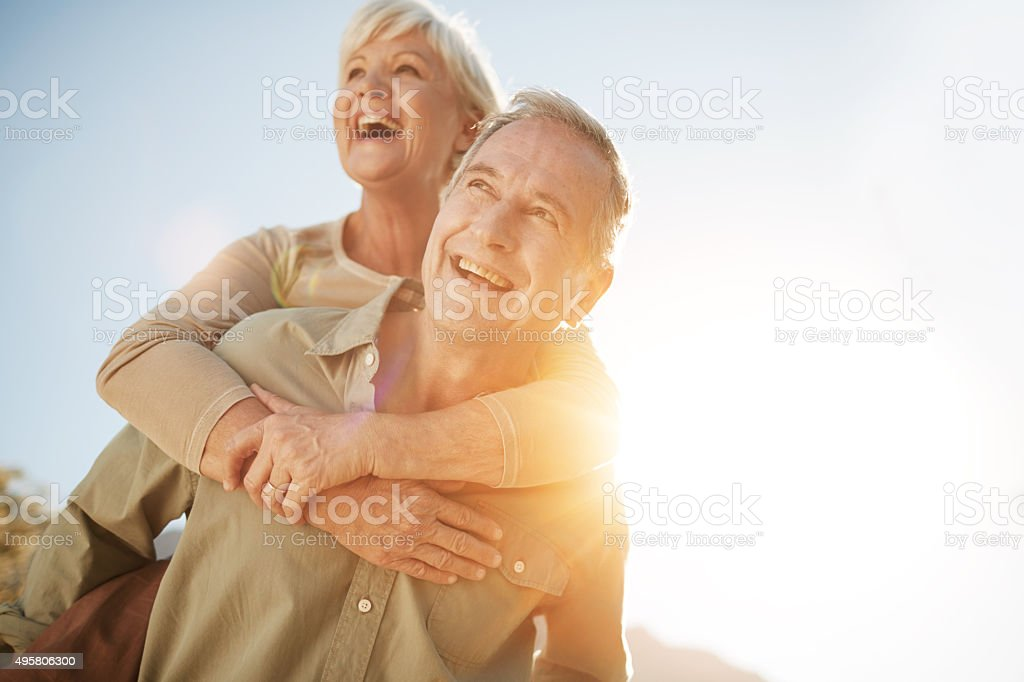 It's not the years in your life but the life in your years that count stock photo