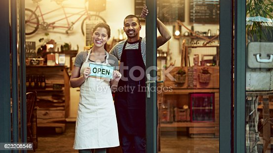 istock It's official! We're open for business 623208546