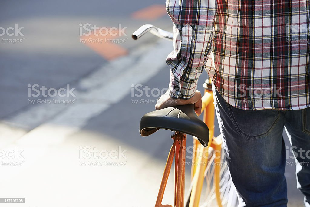 It's only way to get around the city stock photo