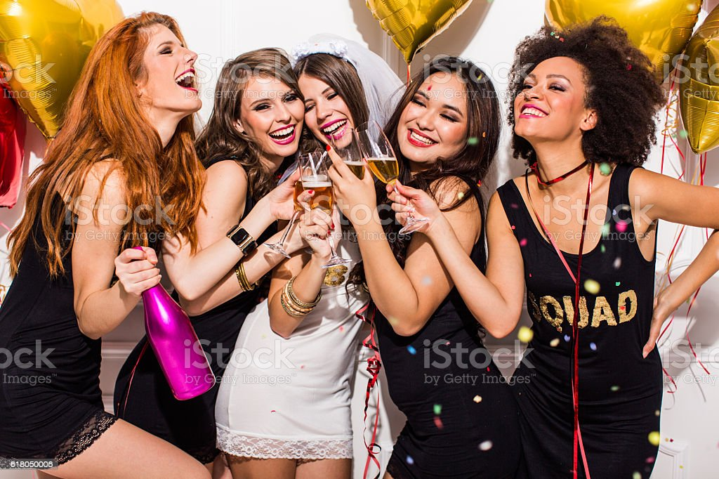 It's our night girls - foto de stock