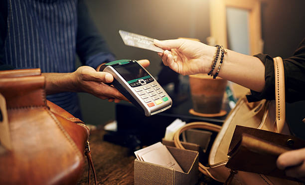 NFC: It's payment made simple - foto de stock
