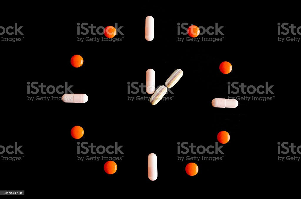 it's pills time stock photo