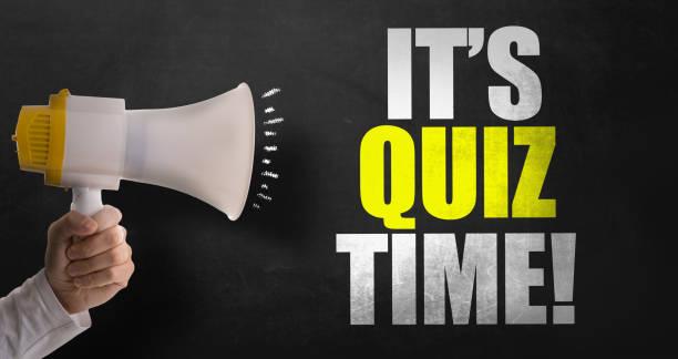 die quiz-zeit - lautsprecher test stock-fotos und bilder